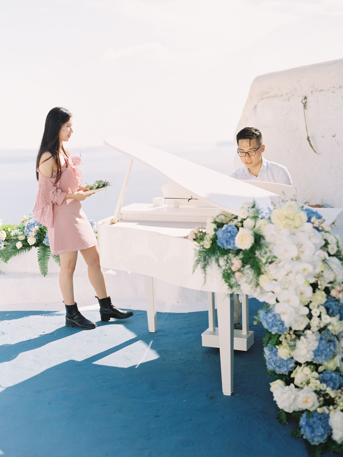A proposal at Santorini island